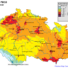 Pole denních koncentrací PM10, ČR, 30. 10. 2014, zdroj: ČHMÚ