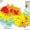 Pole denních koncentrací PM10, ČR, 31. 10. 2014, zdroj: ČHMÚ