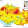Pole denních koncentrací PM10 v ČR, 11.3.2014