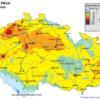 Pole denních koncentrací PM10 v ČR, 12.3.2014