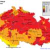 Pole denních koncentrací PM10 v ČR, 8.3.2014