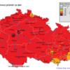 Pole maximálních osmihodinových koncentrací 03 v ČR- 18.7.2014- zdroj: ČHMÚ