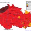 Pole maximálních osmihodinových koncentrací 03 v ČR- 19.7.2014- zdroj: ČHMÚ