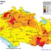 Mapa denních koncentrací PM10 v ČR 20. 2. 2015, zdroj: ČHMÚ