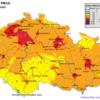 Mapa denních koncentrací PM10 v ČR 20.3.2015, zdroj: ČHMÚ
