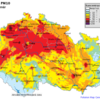 Mapa denních koncentrací PM10 v ČR 21.2.2015, zdroj: ČHMÚ