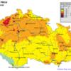 Pole denních koncentrací PM10 v ČR, 30.3.2014