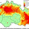 Obr.5: Benzo(a)Pyren v ovzduší ČR- Pole roční průměrné koncentrace B(a)P v roce 2011
