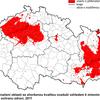 Obr.7: Vymezení OZKO v ČR - Překračování imisních limitů pro ochranu zdraví dle dat z roku 2011 (ČHMÚ)