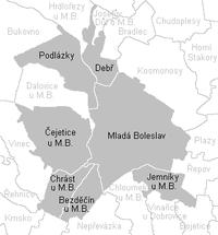 Katastrální území Statutárního města Mladá Boleslav