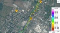 Měření mobilním analyzátorem PM10, cesta Stadion-Kosmonosy 24.2. 2013, M. Píšová, PřF UK, 2014