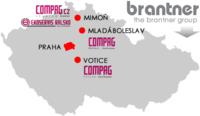 Mapa působení skupiny COMPAG v ČR, zdroj: www.compag.cz