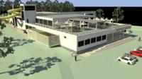 Vizualizace záměru Městský krytý bazén MB v lokalitě Štěpánka. Příloha dokumentace záměru z úřední desky Statutárního města MB
