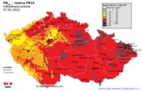 MB- PM 10_7.2. páté nejnečištěnější místo v ČR