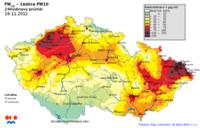 19.11.- část českých měst trpí zhoršenou kvalitou ovzduší